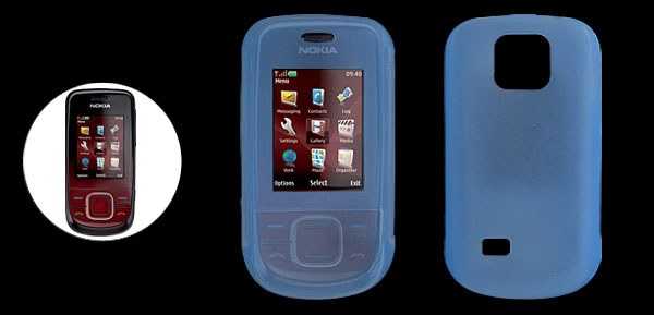 Skyblue Silicone Mobile Phone Case for Nokia 3600 Slide