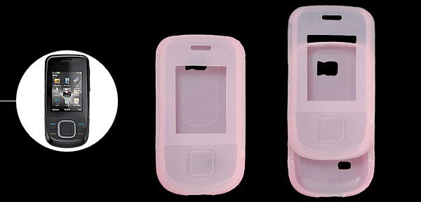 Pink Protective Silicone Skin Phone Case for Nokia 3600 Slide