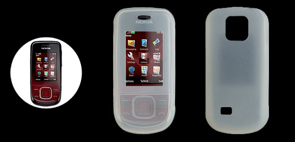 Clear White Silicon Skin Case for Nokia 3600 Slide