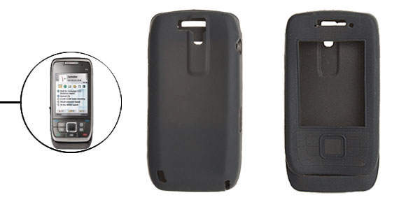 Black Silicone Mobile Phone Case for Nokia E66