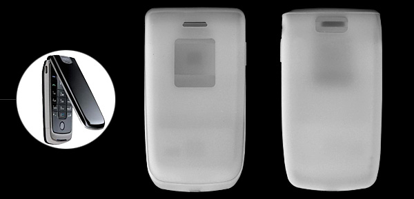 Clear White Silicone Mobile Phone Case for Nokia 6600 Fold