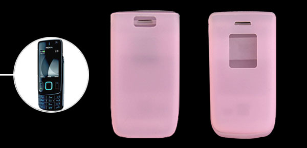 Pink Silicone Mobile Phone Case for Nokia 6600 Fold