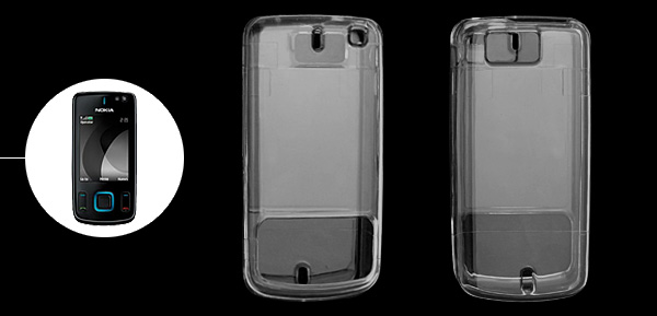 Crystal Hard Plastic Mobile Phone Cover Case for Nokia 6600 Slide