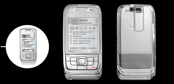 Crystal Transparent Hard Plastic Case Cover for Nokia E66