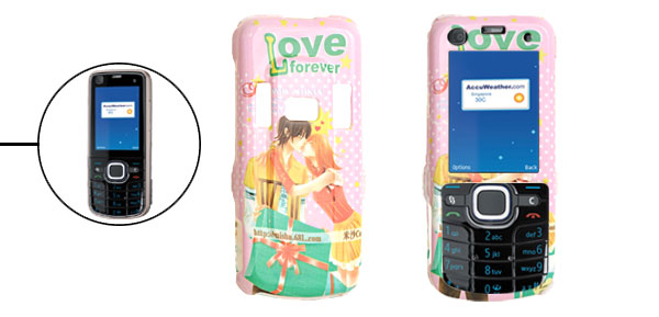 Hard Plastic Case with Kiss Pattern for Nokia 6220 Classic