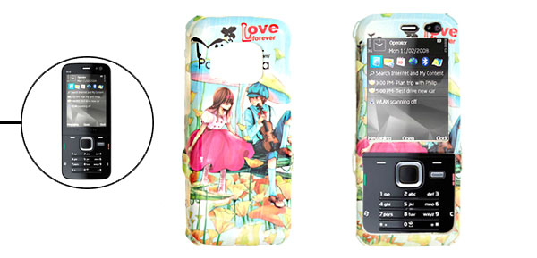 Hard Plastic Case with Cartoon Lovers Pattern for Nokia N78