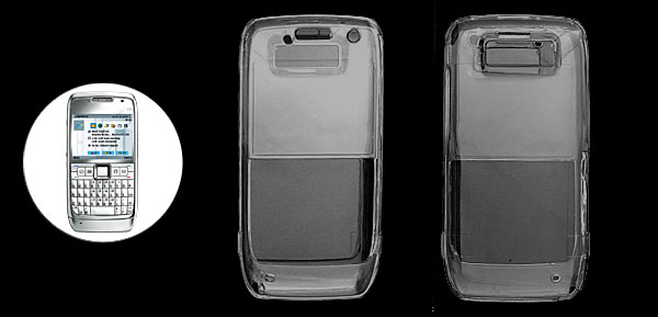 Crystal Hard Plastic Mobile Phone Cover Case for Nokia E71
