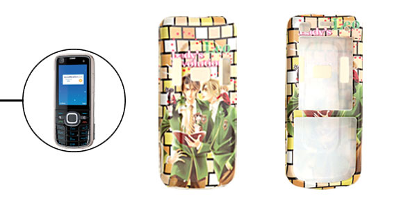 Hard Plastic Case with Classmates Pattern for Nokia 6220 Classic