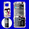 White Hard Plastic Case with Lovely Girls Pattern for Nokia N78