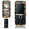 Black Hard Plastic Case with Small skull Pattern for Nokia 6122 Classic