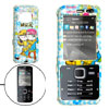 Sky Blue Hard Plastic Case with Lovers Pattern for Nokia N78