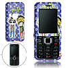 Blue Hard Plastic Case with Cartoon Kids Pattern for Nokia 6122 Classic