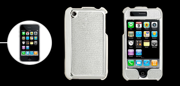 Silvery Glittery & Shiny Print Hard Plastic Case for iPhone 3G