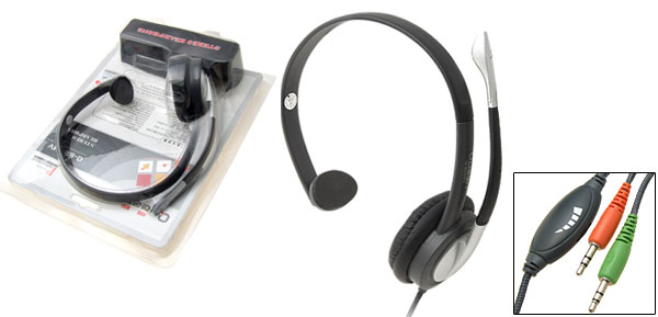 Stereo Headphone with Microphone for Computer Laptop