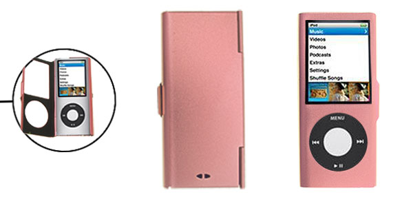 Pink Put On Aluminum Case for iPod Nano Chromatic 4th Generation
