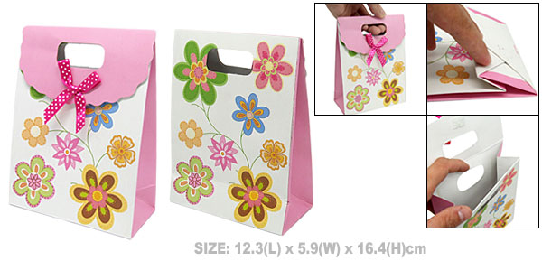 Flower Birthday Baby Shower Paper Gift Bag Party Favor