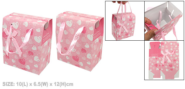 Heart Paper Box Pink for Small Valentine Gift Party Favor