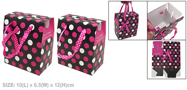 Dots Design Paper Box for Small Birthday Gift Party Favor