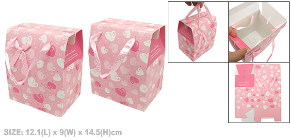 Heart Birthday Wedding Party Favor Gift Paper Box Pink