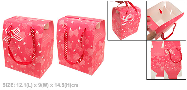 Bowknot Paper Birthday Valentine Gift Party Favor Pink Box