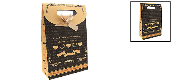 Classy Medium Valentine Gift Paper Bag with Cut Out Handle