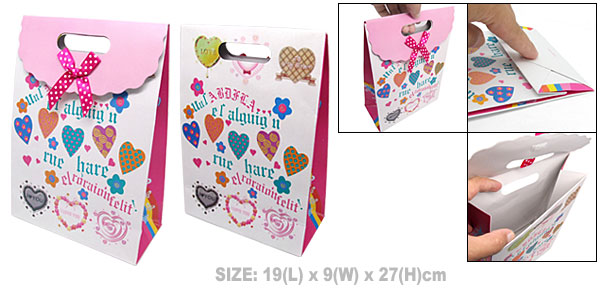 I Love You Valentine Gift Paper Tote Bag Medium