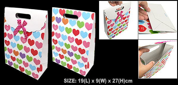 Heart Design Valentine Wedding Gift Paper Bag Party Favor