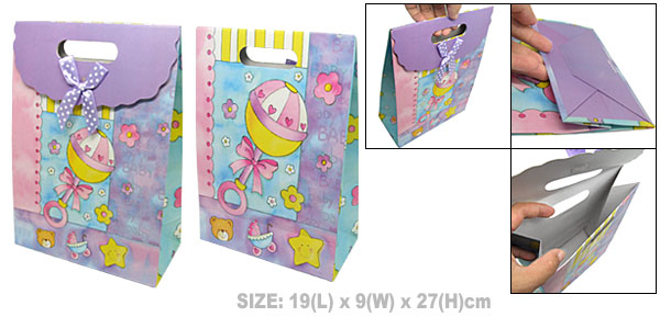 Cartoon Birthday Baby Shower Paper Gift Bag Party Favor