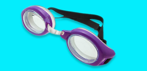 Purple Kids Children Swimming Pool Swim Goggles UV Protect Anti Fog with Black Strap