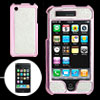 Pink Shiny Print Glittery Silvery Hard Plastic Case for iPhone 3G