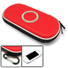 Red Airform Carrying Pouch Case with Carabiner for Sony PSP 3000 2000