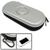 Silvery Airform Carrying Pouch Case with Carabiner for Sony PSP 3000 2000