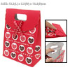 Red Valentine Wedding Party Paper Gift Bag Heart Design
