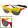 Red and Yellow Owl Flip-up Children Plastic Sunglasses w/ Velcro Head Strap