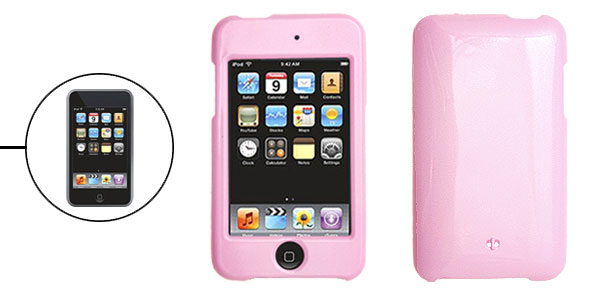 Pink Hard Plastic Case Protector Cover for iPod Touch 2nd Generation Gen