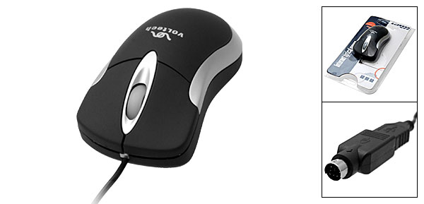 Ergonomic USB PS/2 3D Optical Mouse for Computer Laptop