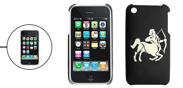 Hard Plastic Back Case with Sculptural Sagittarius for iPhone 3G