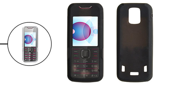Black Silicone Skin Mobile Phone Case for Nokia 7210 Supernova