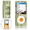 Plastic Case for iPod Nano 4th Gen 4G w/ Dollar Bill Pattern
