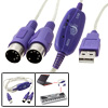 USB to MIDI Interface Adapter Cable for Keyboard to PC
