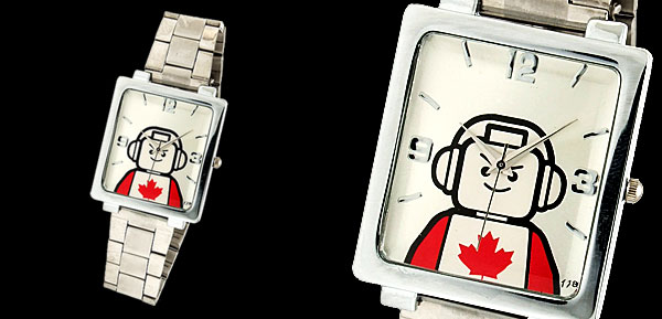 Canada Steel Astronaut Pattern Silvery Dial Man's Wrist Watch