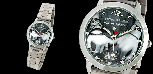 Steel Boy's Hand in Hand Cool Wrist Watch