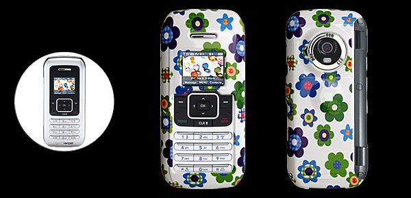 White Hard Plastic Case with Sunflower Pattern for LG VX9900