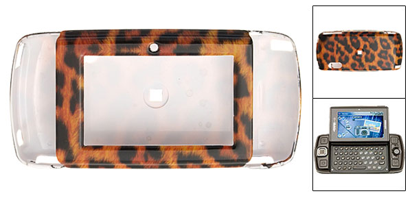 Leopard Stripe Hard Plastic Mobile Phone Case for Sharp Sidekick LX