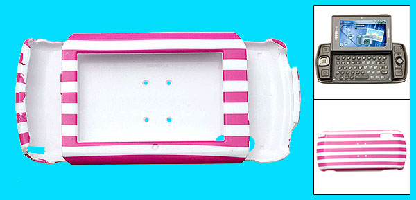 Pink and White Stripe Hard Plastic Phone Case for Sharp Sidekick LX