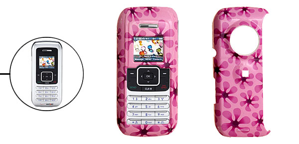 Pink Hard Plastic Case with Hyacinth Pattern for LG VX9900