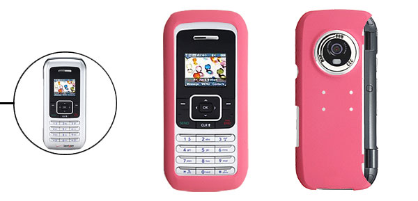 Pink Hard Plastic Mobile Phone Case for Protecting LG VX9900