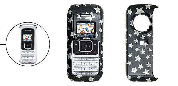 Black Hard Plastic Case with Silvery Star Pattern for LG VX9900