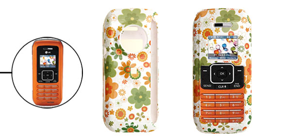 White Hard Plastic Case with Colorful Flower Pattern for LG VX9900