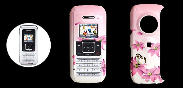 Pink Hard Plastic Case with Water Lily Pattern for LG VX9900